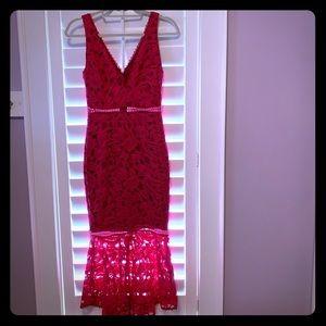 Nicholas pink lace dress